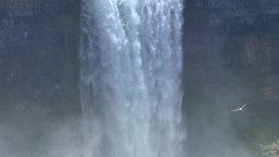 4K Bridal Veil Falls Tilt Down Footage