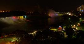 4K Niagara Falls at Night Footage