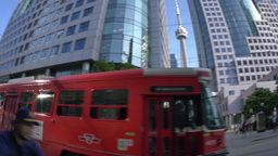 4K Toronto Trolley and CN Tower Footage