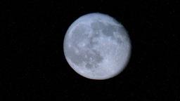 Real Full Moon in Night Sky Timelapse Footage