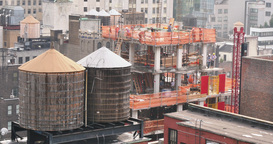 4K New Construction Site in New York City Footage