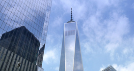 4K Freedom Tower Establishing Shot Footage