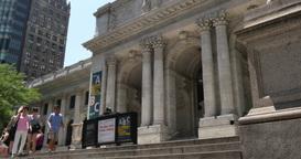 4K New York Public Library Establishing Shot Footage