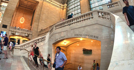 4K Grand Central Station Interior Establishing Shot Footage