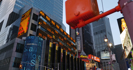 4K Times Square Stock Market Ticker Footage