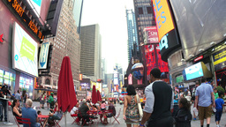 Walking Through Crowds at Times Square Footage