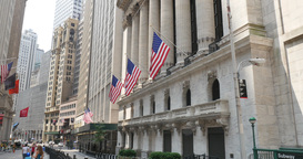 4K Wall Street New York Stock Exchange Establishing Shot Footage