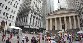 4K Wall Street Federal Building Establishing Shot Footage