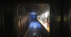 4K Subway Train POV Ahead Footage