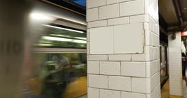4K Generic Manhattan Subway Station Footage