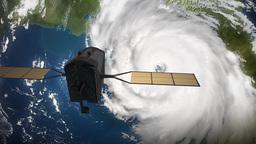 Satellite Analyzes Hurricane from Orbit Footage