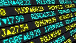 4K Stock Market Ticker Stationary Footage