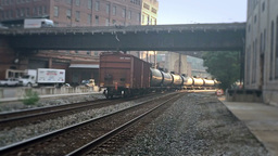 Freight Train Passes By Footage