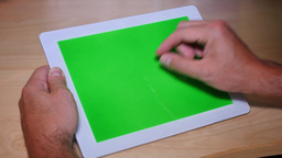 4K Green Screen Tablet PC Footage