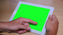 4K Swipe on a Green Screen Tablet PC Footage