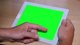 4K Swipe on a Green Screen Tablet PC Footage