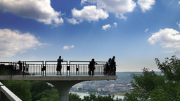 4K Pittsburgh Mt Washington Overlook Tourists Footage