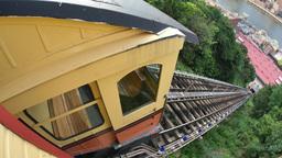 4K Pittsburgh Mt Washington Monongahela Incline Establishing Shot Footage