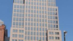 4K Typical New York Style Office Building Tilt Up Footage