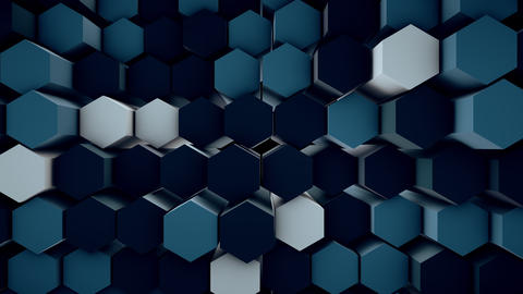 3d wavy hexagons pipes Footage