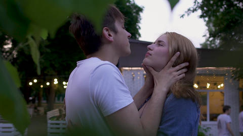 Couple in love in the park Footage