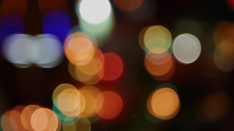Color bokeh with light movement of the camera, colors change Archivo