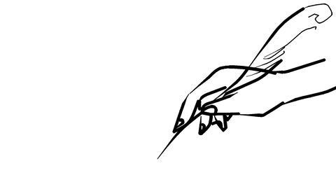 Write with feather pen 애니메이션