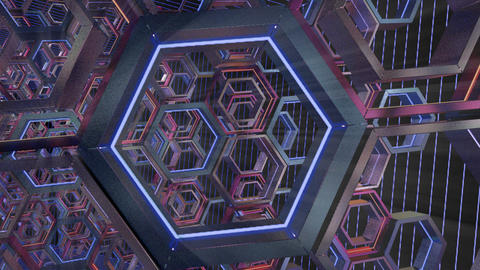 Vj hexagonal loop immersive CG動画素材