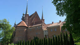 Frombork, Poland. Gothic cathedral in Frombork town, Poland Live Action
