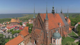 Gothic cathedral and Frombork town, Poland Live Action