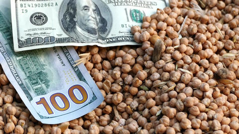 The increase in prices of 100 usa and dry chickpeas Footage