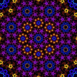 kaleidoscope fractal pattern ベクター