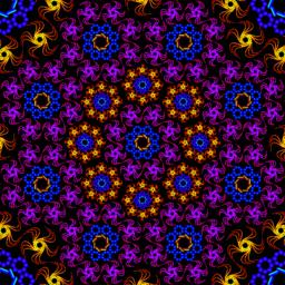 kaleidoscope fractal pattern Vector