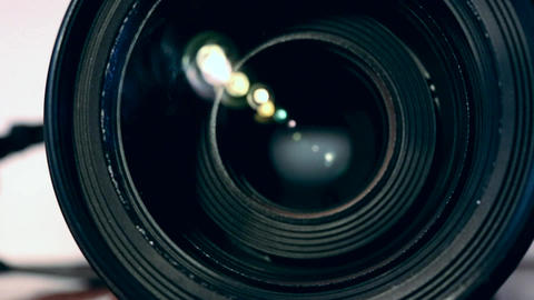 camera lens zooming Footage