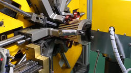 Engine Production Factory. Electric Engine Production... Stock Video Footage