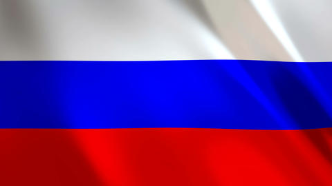 Russian Flag waving Animation
