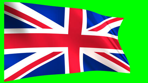 Great Britain Flag waving Animation