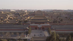 4k panning shot of Forbidden City in Beijing Footage