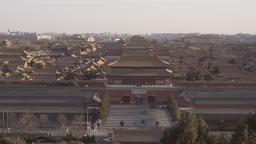 4k panning shot of Forbidden City in Beijing Footage