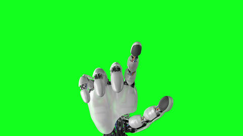 Robotic Hand Presses on the Screen Animation