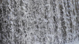 Slow motion of falling water. Hydroelectricity. Hydropower Footage