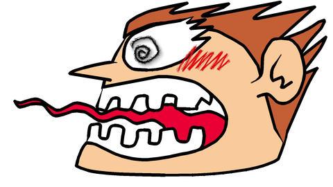 An angry man Animation
