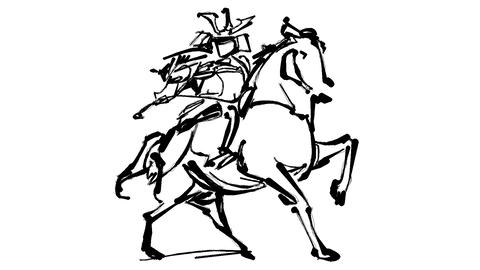 Cavalry warrior Animation