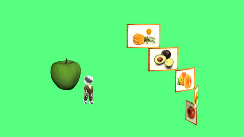 3d animation healthy eating and diet Animation