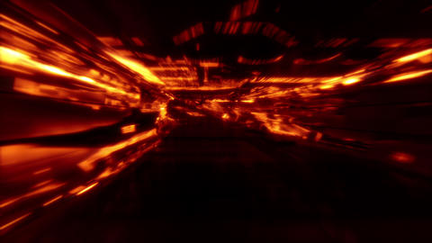 Neon Light SciFi Tunnel Fast Loop - Lava Animation