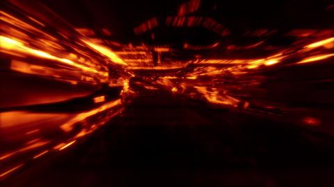 Neon Light SciFi Tunnel Fast Loop - Lava CG動画素材