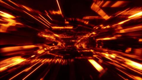 Neon Light SciFi Tunnel Fast Loop - Lava Stock Video Footage