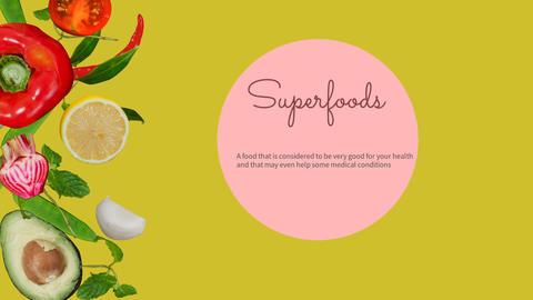 Digitally generated video of super foods 4k Footage