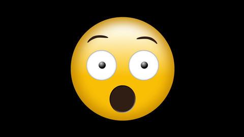 Digital generated video of shocked emoji 4k Footage