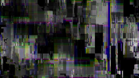 Distorted television screen Footage